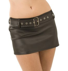 HON Christina Leatherette Mini Skirt