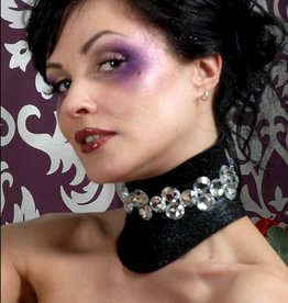 PRG Glitter Posture Collar Gem Stone Center