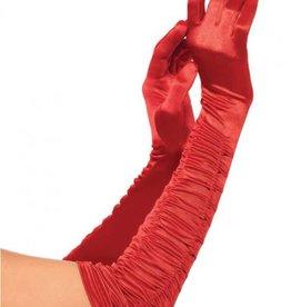 LGA Ruched Satin Opera Gloves