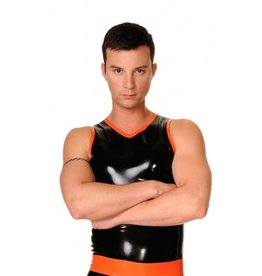 FF Latex Clubber Vest With Trim