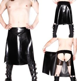 FF Revelation Latex Kilt With Chap Shorts