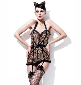 SMF Wildcat Leopard Dress With Garters
