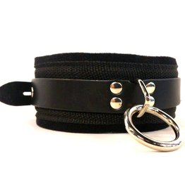 KO Webbing And Leather Ring Collar