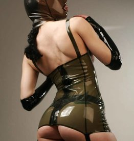FE Julie Long Latex Torsolette With Garters