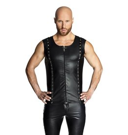 NH Wetlook Vest With Studded Trim