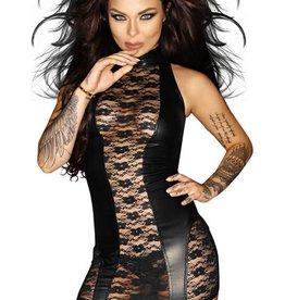 NH Nasty Wetlook & Lace Garter Dress
