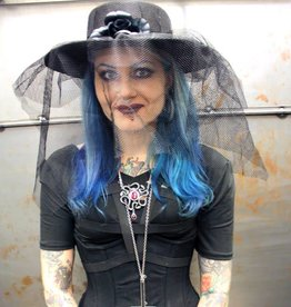 BP Hat With Lace Net Veil