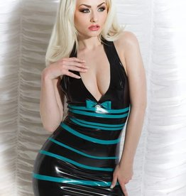 HON Ava Blue Strip Latex Dress