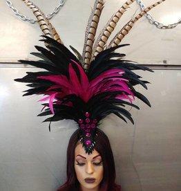 BOA Feather Headband Headdress With  Gem Detail