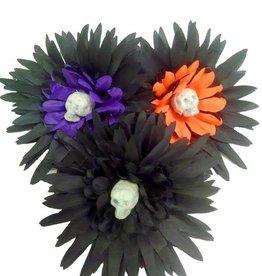 BP Skull Flower Hairclip