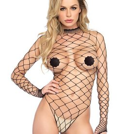 LGA High Neck Fence Net Body With Snap Crotch