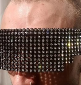 TW Laforge Rhinestone Eye Mask