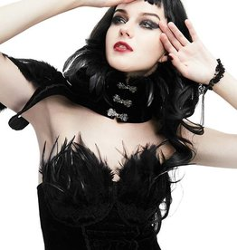 WF Gothic Asymmetrical Feather Choker