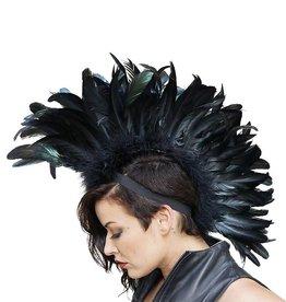 ZFP Feather Mohawk Iridescent Black
