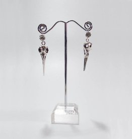 PRG Diamante And Bird Skull Earrings