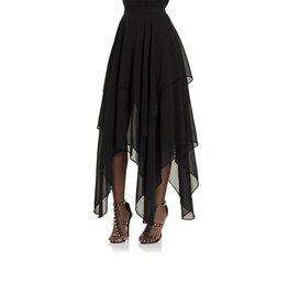 SIL Chiffon Asymmetrical Maxi Skirt
