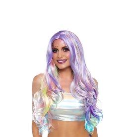 LGA Rainbow Pastel Long Wavy Wig
