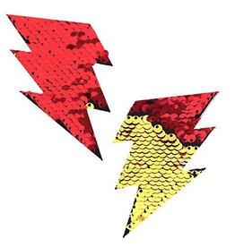 NN Flash Red Gold Flip Sequin Bolt Nipztix Pasties