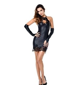 PC Jazlyn Lace Trim Wetlook Dress