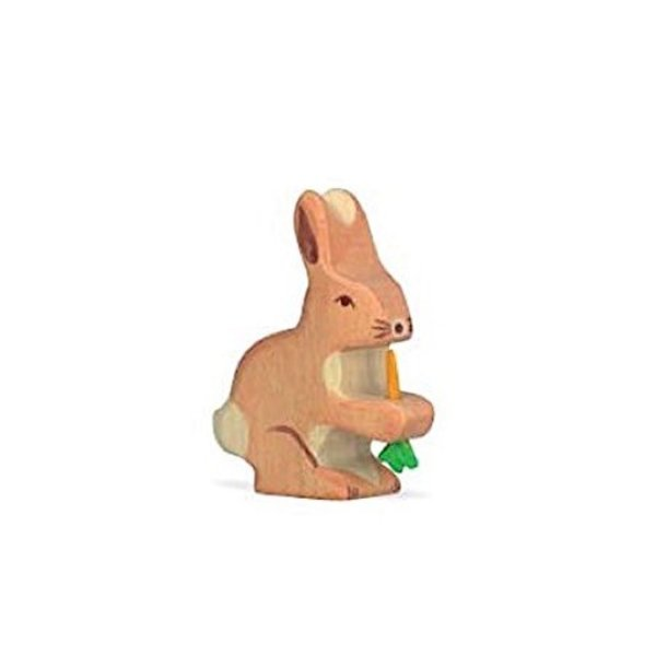 Holztiger Wooden Rabbit with Carrot