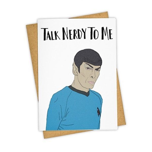 Tay Ham Talk Nerdy To Me Card