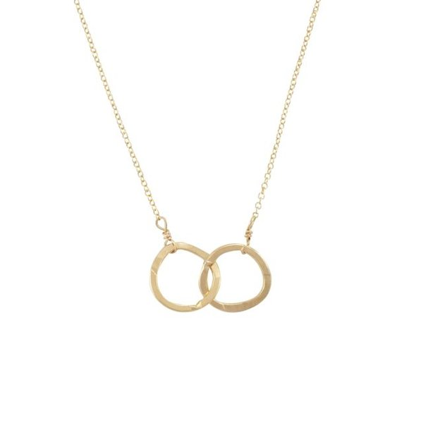 Becoming Jewelry Intertwined Circles - Gold