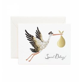 Rifle Paper Co. Card - Special Delivery Stork