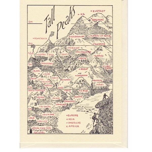 Saturn Press Tall Peaks Card