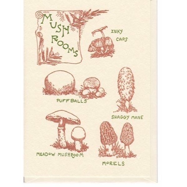Saturn Press Mushroom Card