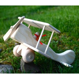 Wooden Red Baron Plane