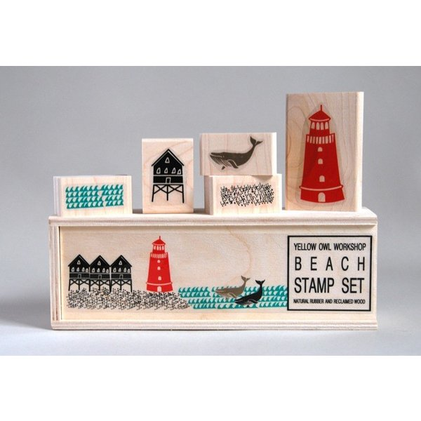 Yellow Owl Workshop Beach Stamp Set