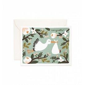 Rifle Paper Co. Card - Congrats Stork