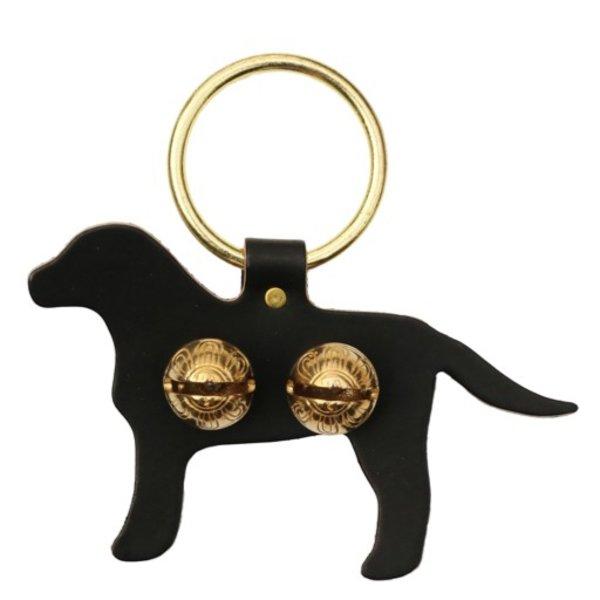 Brass Door Chime Bell - Labrador - Dark Brown