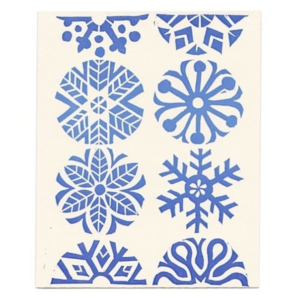 Morris & Essex Blue Snowflake Card