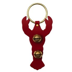 Brass Door Chime Bell - Lobster - Red