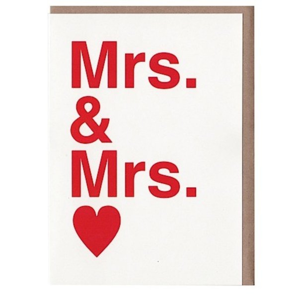 Sad Shop - Mrs. & Mrs. Card