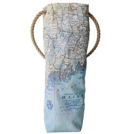 Sea Bags Custom Daytrip Society Maine Map Wine Carrier - Hemp Handle