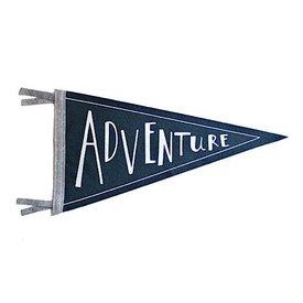 Strawberry Moth Wool Pennant Flag - Adventure