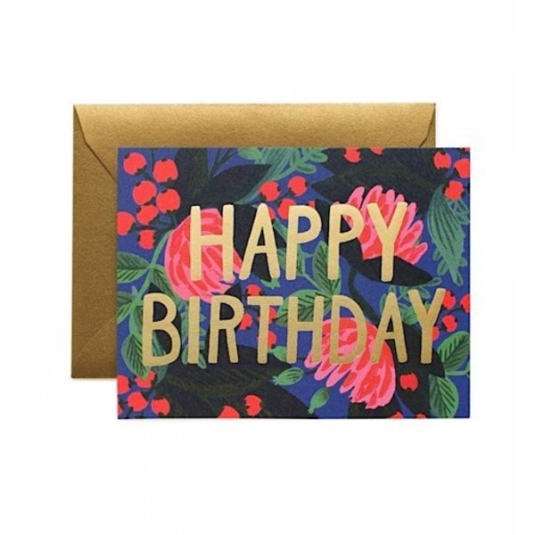 Rifle Paper Co. Card - Floral Foil Birthday