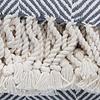 Brahms Mount Monhegan Throw 100% Cotton - Natural & Slate