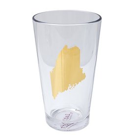 Maine State Pint Glass - 20k Gold