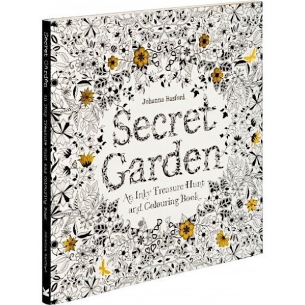 Secret Garden - An Inky Treasure Hunt and Coloring Book