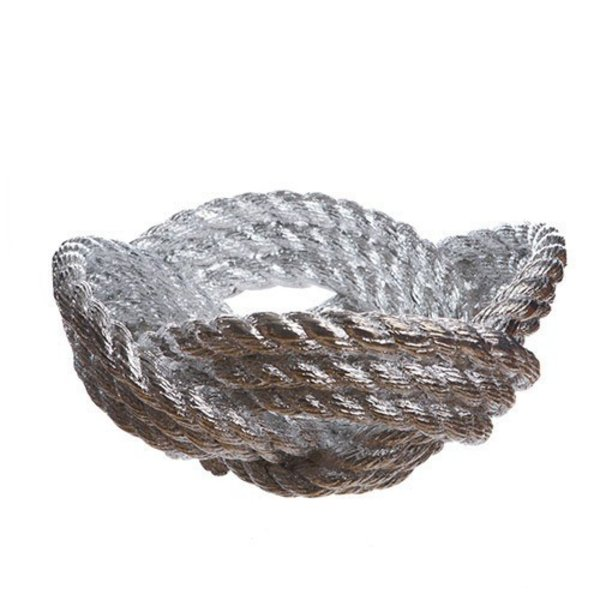 Rope Knot Bowl by Harry Allen - Silver Chrome