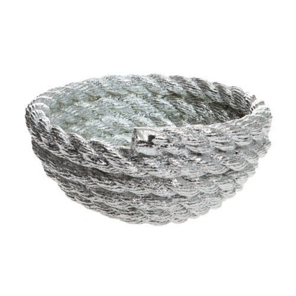 Rope Coil Bowl by Harry Allen - Silver Chrome