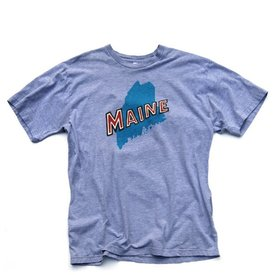 Maine State T-Shirt - Heather Grey