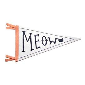 Strawberry Moth Wool Pennant Flag - Meow