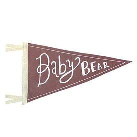 Strawberry Moth Wool Pennant Flag - Baby Bear