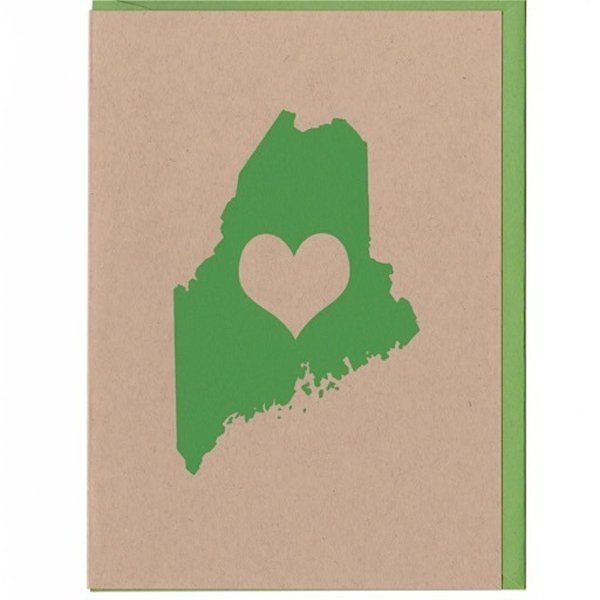 ThinkGreene Maine Love Card - Green
