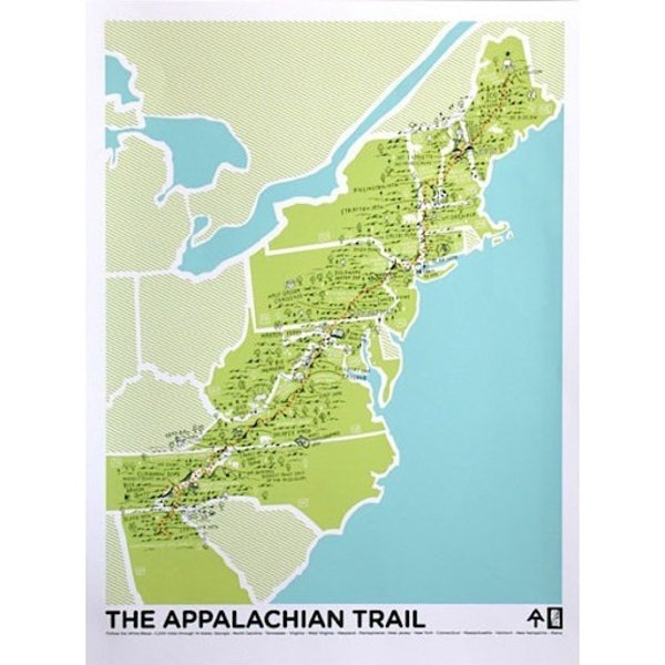 Appalachian Trail Poster - 18x24