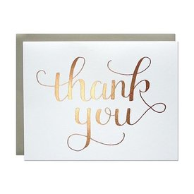 Parrott Design Card - Rose Gold Thank You